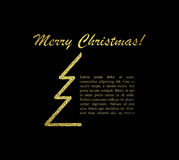 Merry Christmas card with text. Vector illustration. stock illustration