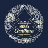 Vector Christmas tree stock illustration