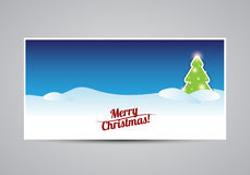Merry Christmas card tree template Royalty Free Stock Photography