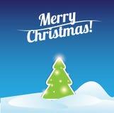 Merry Christmas card tree template Stock Photos