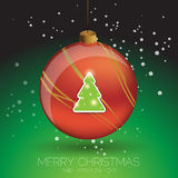 Merry Christmas card tree template Stock Images