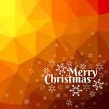 Merry Christmas card with triangle background. Merry Christmas card with snowflakes on abstract triangle mesh background Stock Images