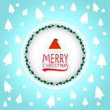 Merry christmas card Typography vector. Merry Christmas Blue Greeting Card invitation Royalty Free Illustration