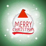 Merry christmas card Typography vector. Merry Christmas Green Greeting Card invitation Stock Photography