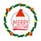 Merry christmas card Typography vector. Merry Christmas Greeting Card invitation Stock Illustration