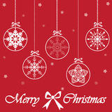 Merry Christmas card, vector Royalty Free Stock Photo
