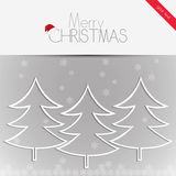 Merry Christmas card, vector Stock Images