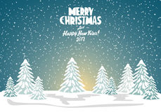 Merry christmas card. Vector illustration. Happy new year Stock Photos