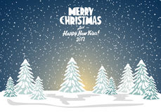 Merry christmas card. Vector illustration. Happy new year Stock Images