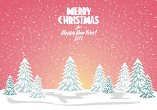 Merry christmas card. Vector illustration. Happy new year Royalty Free Stock Image