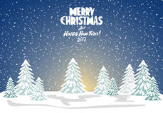 Merry christmas card. Vector illustration. Happy new year Stock Photo