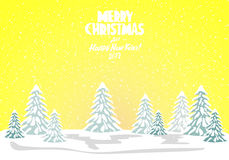 Merry christmas card. Vector illustration. Happy new year Stock Image