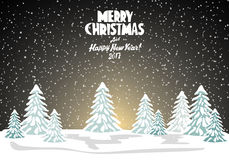Merry christmas card. Vector illustration. Happy new year Royalty Free Stock Photography