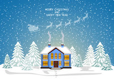 Merry christmas card. Vector illustration. Happy new year Stock Photography