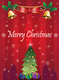 Merry Christmas Card. Vector Illustration Royalty Free Stock Photo