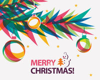 Merry christmas card vector illustration Stock Image