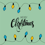 Merry Christmas card. Vector illustration. stock images