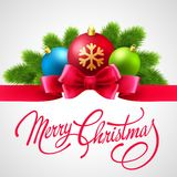 Merry Christmas  card with Vector Lettering Royalty Free Stock Photography