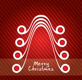 Merry Christmas card and website Royalty Free Stock Image