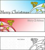 Merry christmas cards. Three merry christmas cards on white background. vector image Stock Image
