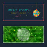 Merry Christmas cards royalty free illustration