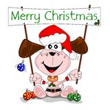 Merry Christmas cartoon Royalty Free Stock Photography