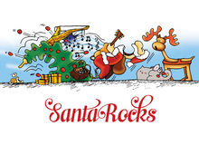 Merry Christmas Santa rocks Royalty Free Stock Images