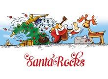Merry Christmas Santa rocks royalty free stock images