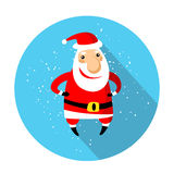 Merry christmas-16. Cartoon happy Santa Claus icon isolated on blue background. Design elements for greeting cards and flyers. Christmas characters Royalty Free Illustration