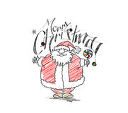 Merry Christmas! Cartoon Style Hand Sketchy drawing Royalty Free Stock Image