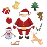 Merry Christmas cartoon vector illustration Stock Photos