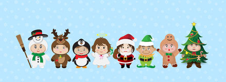 Merry Christmas Cartoon Vector Stock Photo