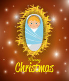 Merry christmas cartoons Royalty Free Stock Photo