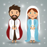 Merry christmas cartoons Royalty Free Stock Image