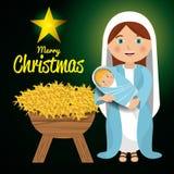 Merry christmas cartoons Stock Photos