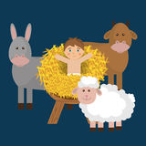 Merry christmas cartoons Stock Photography