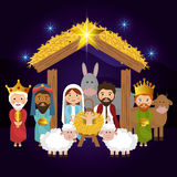 Merry christmas cartoons Royalty Free Stock Image