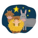Merry christmas cartoons Royalty Free Stock Photos