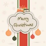 Merry Christmas celebration concept with greeting card design. Stock Image