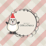 Merry Christmas celebration concept with penguin. Royalty Free Stock Image