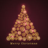Merry Christmas celebration with creative Xmas Tree design. Royalty Free Stock Images
