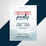 Merry christmas celebration flyer with event details space. Vector vector illustration