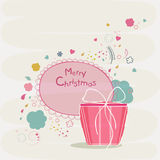 Merry Christmas celebration with gift box. Stock Images