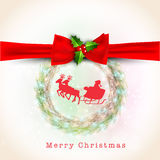 Merry Christmas celebration greeting card or invitation card. Stock Image