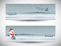 Merry Christmas celebration header or banner design. Royalty Free Stock Photography