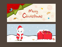 Merry Christmas celebration with header or banner. Royalty Free Stock Photos