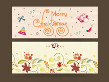 Merry Christmas celebration with header or banner. Stock Photography