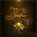 Merry Christmas celebration with jingle bells. Royalty Free Stock Photography
