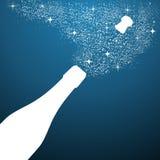 Merry Christmas celebration luxury bottle vector file. Stock Photos