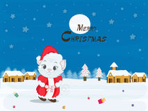 Merry Christmas celebration poster, banner or flyer design. Royalty Free Stock Images